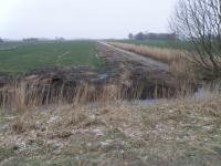 Graben zwischen Kuh- und Schaffenne während der Arbeiten Januar 2014